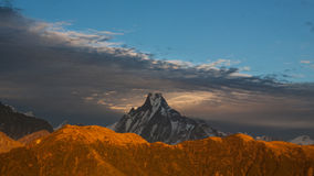 Machhapuchchhre. The famous Fish Tail mountain Royalty Free Stock Photography