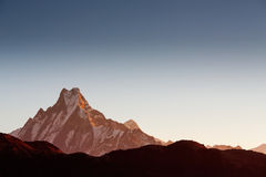 Machhapuchchhre mountain - Fish Tail in English is a mountain in royalty free stock photo