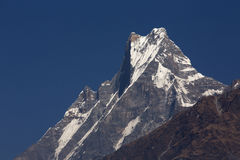 Machhapuchchhre mountain - Fish Tail in English is a mountain in stock photography
