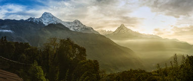 Machhapuchhare, Nepal. stock photo