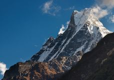 machhapuchhre山 图库摄影
