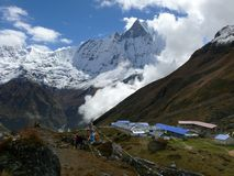 Machhapuchhre from Annapurna Base Camp Stock Photography