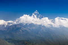 Machhapuchhre and Annapurna mountains Royalty Free Stock Photography