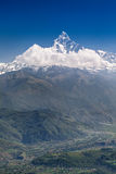 Machhapuchhre and Annapurna mountains Stock Images
