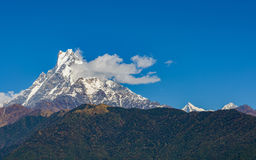 The Machhapuchhre (Fish Tail) in Nepal Royalty Free Stock Photo