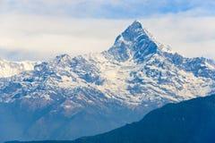 Machhapuchhre in het Annapurna-gebied Royalty-vrije Stock Foto