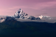 Machhapuchhre mountain in the Himalayas. royalty free stock images