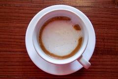 热的咖啡浓咖啡Machiato 免版税图库摄影