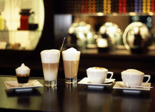 Machiato expresso. Food , drinks, beverages,cookery stock photos