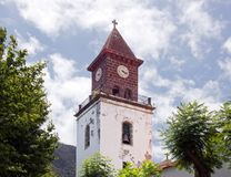 Machico教会,马德拉岛 库存照片