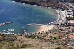 Machico海滩 免版税库存照片