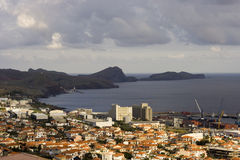 Machico Hafen stockbild