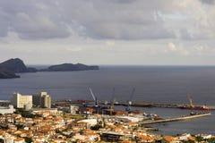 Machico harbor. In Madeira Island - Atlantic ocean - Portugal Royalty Free Stock Image