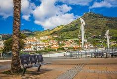 Machico nära flygplats i madeiran, Portugal royaltyfria foton