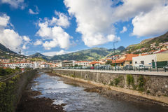 Machico near airport in Madeira, Portugal Royalty Free Stock Photos