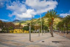 Machico près d'aéroport en la Madère, Portugal Photographie stock libre de droits