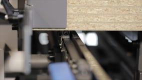 Machin moderno di falegnameria con CNC Meccanismi del lavoro delle macchine utensili industriali di falegnameria archivi video