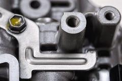 Machinalna część z metali składnikami i hydraulicznymi klapami Fotografia Stock
