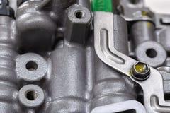 Machinalna część z metali składnikami i hydraulicznymi klapami Obraz Royalty Free