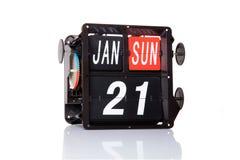 Machinalna kalendarzowa retro data odizolowywająca Zdjęcia Stock