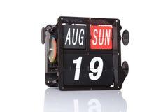 Machinalna kalendarzowa retro data odizolowywająca Zdjęcie Royalty Free