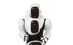 Machinalnego mężczyzna robot odizolowywający na białym tle zdjęcia stock