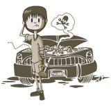 Machinalni Auto problemy royalty ilustracja