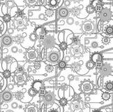 Machinalny bezszwowy wektorowy tło wzór _ greaser ilustracji