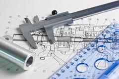 machinalny calipers plan zdjęcie royalty free