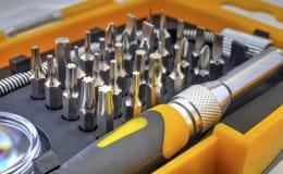 Machinalny kawałka narzędzia set Fotografia Royalty Free