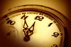 Machinalny stary zegarek Obrazy Stock