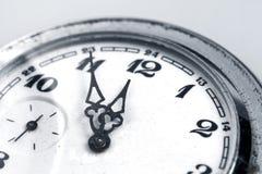 Machinalny stary zegarek Zdjęcia Royalty Free