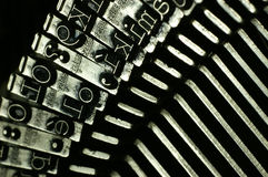 Machine à écrire Photos stock