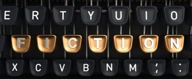 Machine à écrire avec des boutons de FICTION Image stock