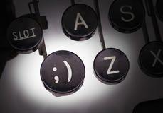 Machine à écrire avec les boutons spéciaux Photo stock