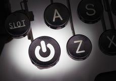 Machine à écrire avec les boutons spéciaux Image stock