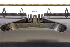 Machine à écrire de Danke Images stock