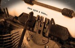 Machine à écrire de vintage Image libre de droits