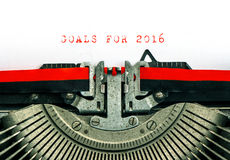 Machine à écrire de vintage BUTS des textes témoin POUR 2016 Images libres de droits