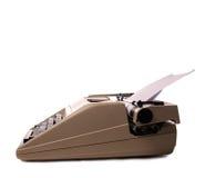 Machine à écrire de vintage sur le blanc Photo stock