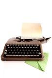 Machine à écrire et lettre Photos stock