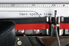 Machine à écrire - il était une fois Photographie stock libre de droits