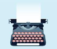 Machine à écrire interdite Photographie stock libre de droits