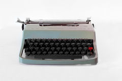 Machine à écrire verte Photos libres de droits