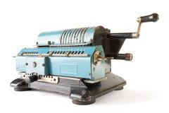 Machine à calculer au-dessus de blanc Images libres de droits