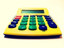 Machine à calculer - calculatrice Image stock