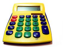 Machine à calculer - calculatrice Photo libre de droits