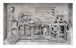 Machine à décaper de laine de vintage Photo stock