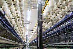 Machine à filer de coton d'usine Photos stock