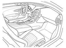 Machine à l'intérieur intérieur du véhicule Photographie stock libre de droits